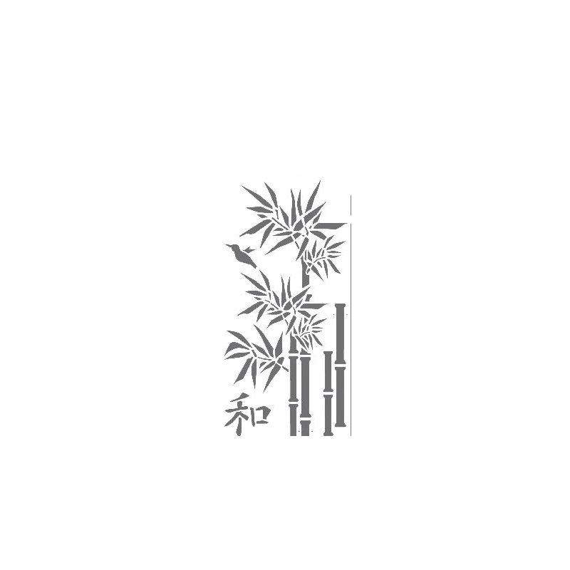 Dekor Schablone XL Motiv Bambus XL 1