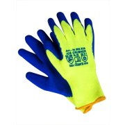 Winterhandschuhe ICE - Crusher warngelb / blau 10 / XL