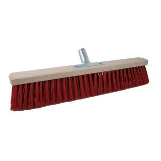 Straßenbesen Elaston rot 40-60cm Metallstielhalter