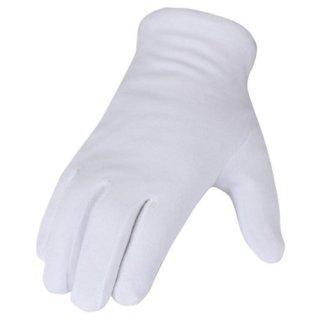 12 Paar Baumwollhandschuhe weiß - Premium Qualität