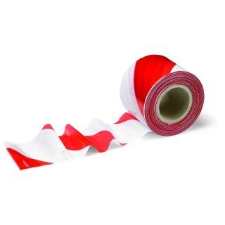 Markierband Absperrband Warnband rot-weiß 7cm x 200m