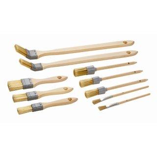Maler Flach, Ring, Ecken, Emaillelackpinsel Set, 10-teilig