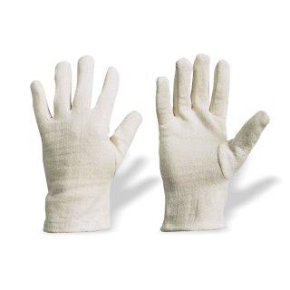 Baumwollhandschuhe Handschuhe Baumwolle Jersey rohweiß