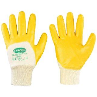 Nitril-Arbeitshandschuhe Beschichtung Gelb Größe 7-11