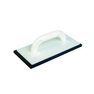 Reibebrett weiß mit schwarzem Zellgummi 280 x 140 x 10mm