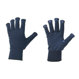 Feinstrickhandschuhe Strickhandschuhe blau mit Noppen