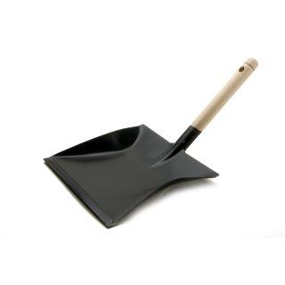 Kehrschaufel Kehrblech Metall schwarz lackiert Holzgriff